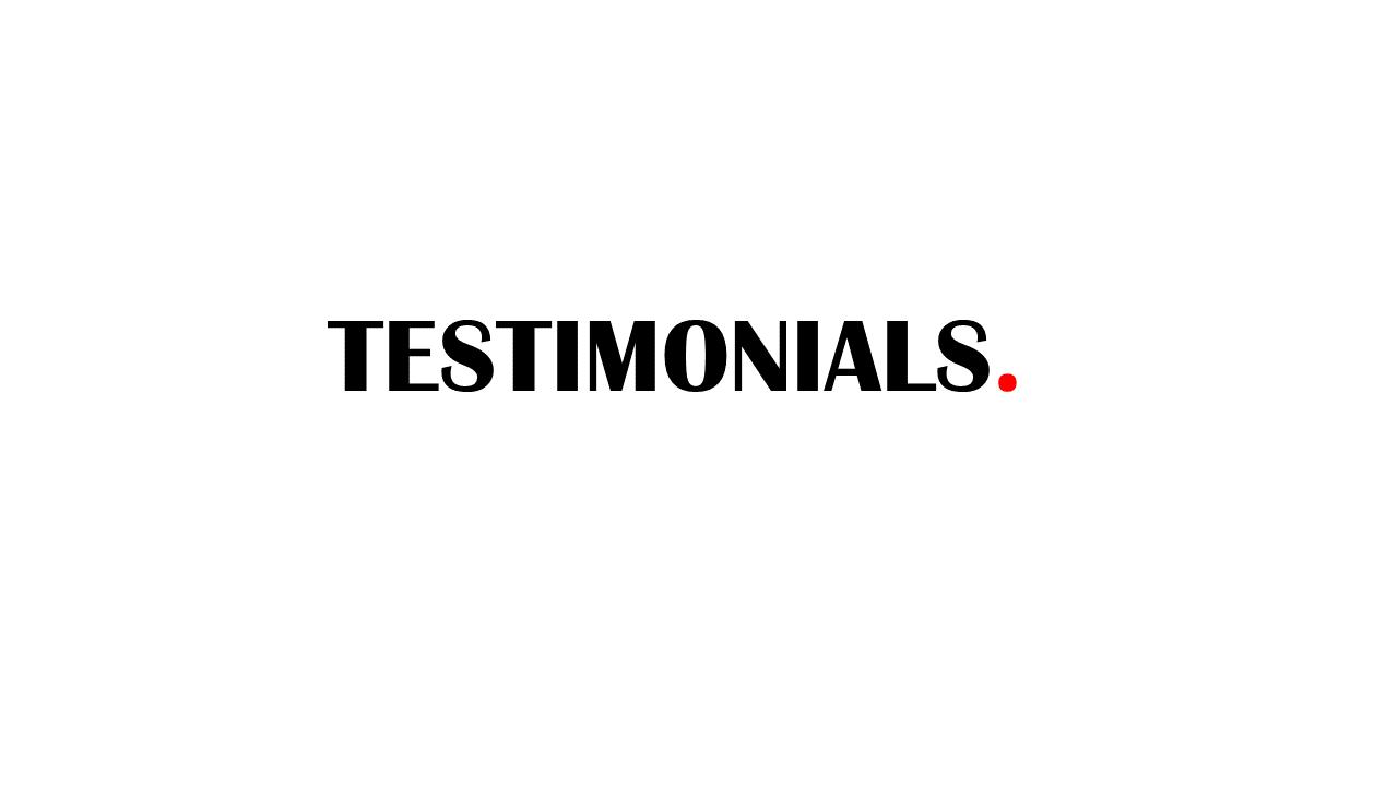 apostle james testimonials